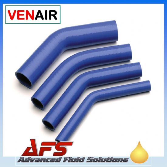 Blue 45 Degree Silicone Hose 102mm Legs